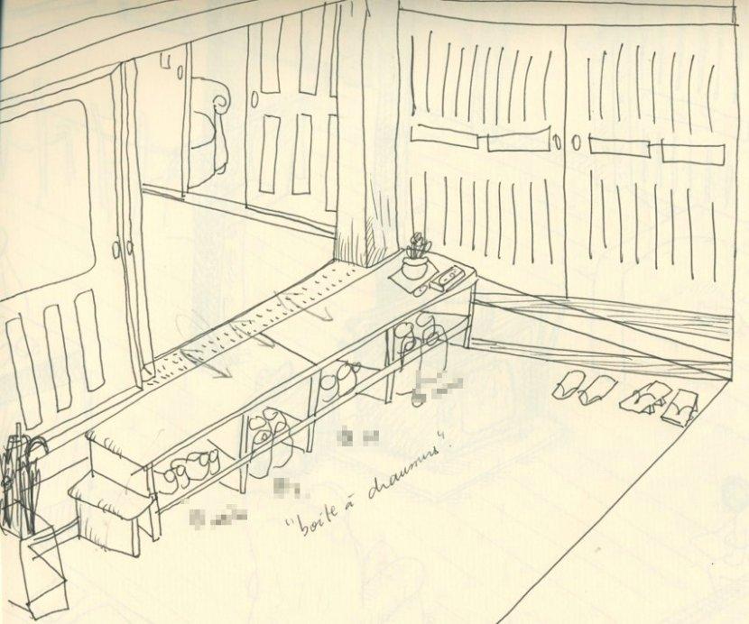sketch de le getabako