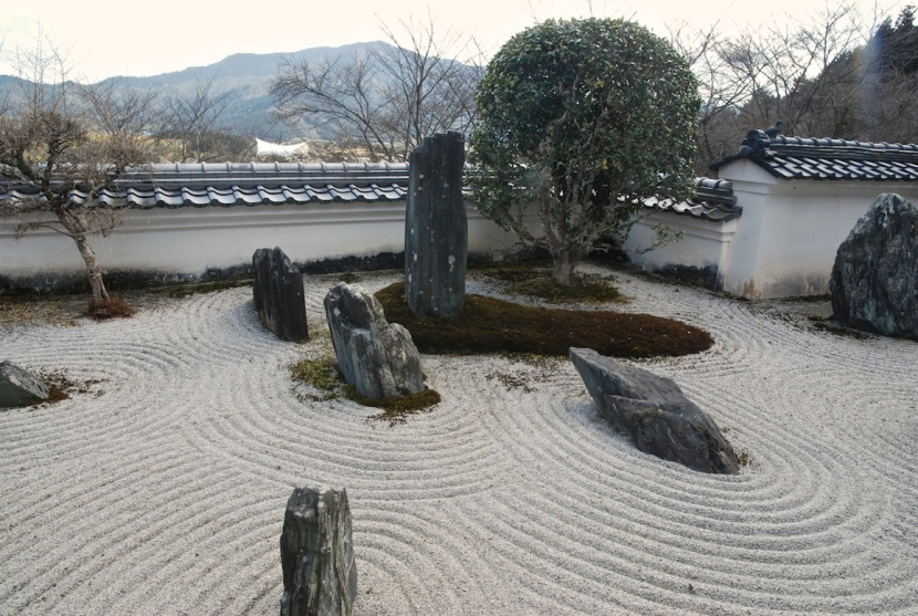 temple sekizo ji jardin de pierres