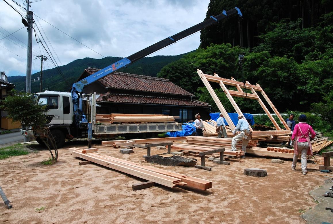 Maison Japonaise Traditionnelle Construire construction d'une maison japonaise – jour 1 (2)   a la