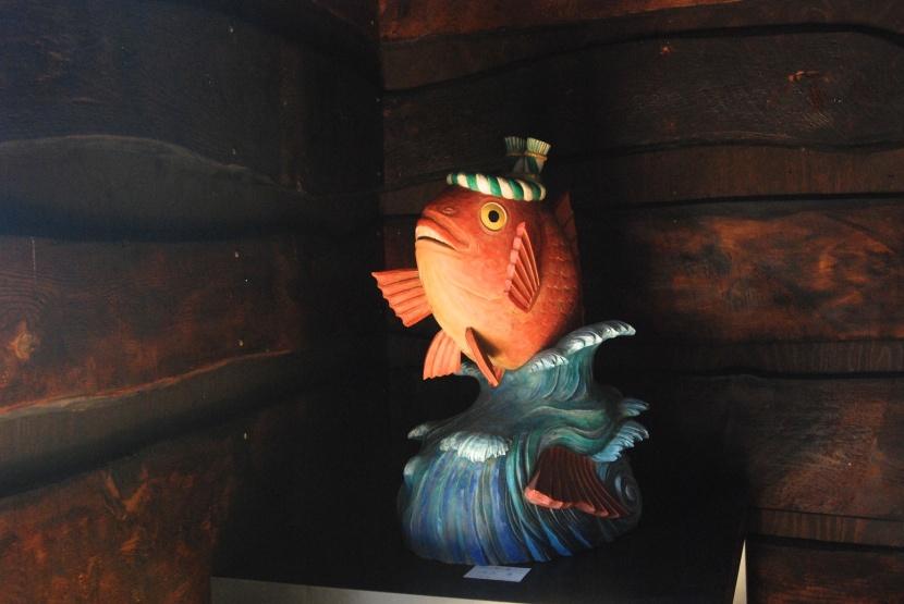 magnifique poisson sculpté
