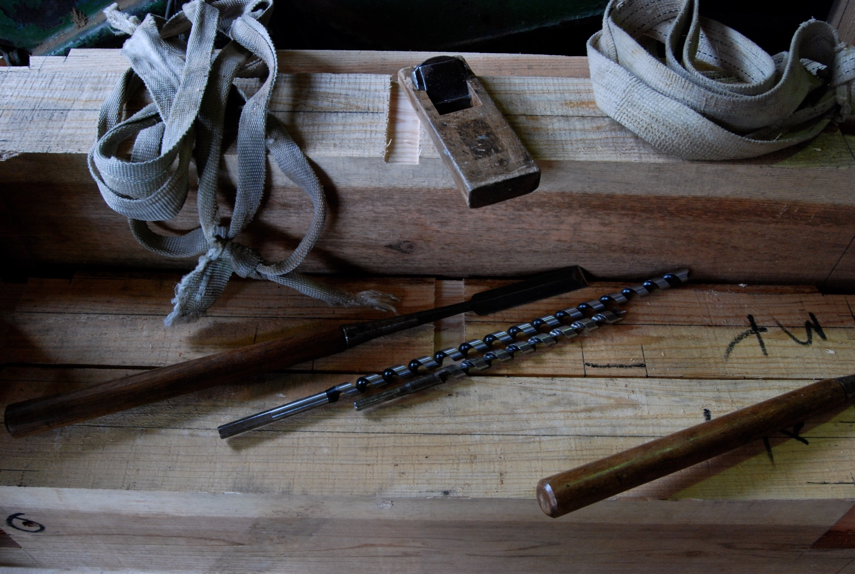 visite chez les charpentiers