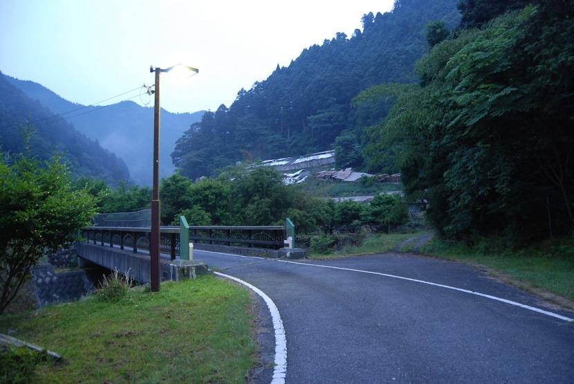 route au matin