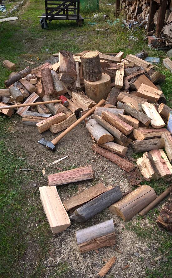 fendre du bois si on s ennuie