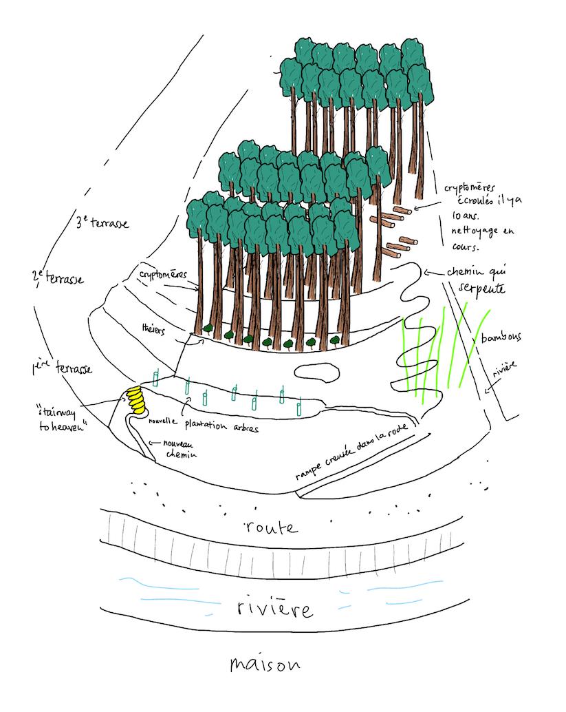 le plan de la montagne