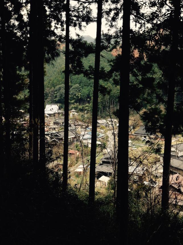 vue du village de la montagne