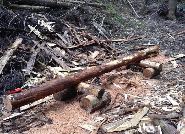 barriere jardin bois